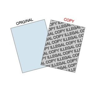 """ILLEGAL COPY"" Protected Paper"